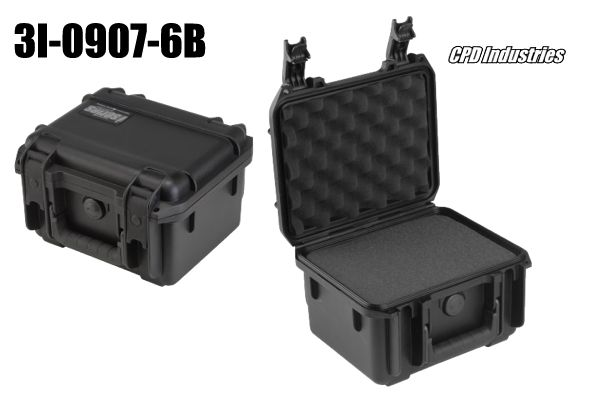 skb case 3i-0907-6 shown closed and with foam