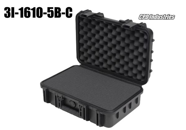 skb injection molded case with cubed foam